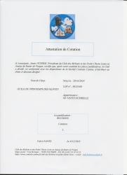 Attestation cotation 2