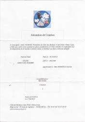 Attestation de cotation 5